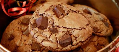 рецепт шоколадное печенье с кусочками шоколада рецепт с фото