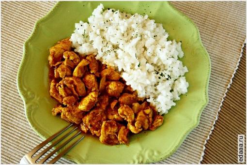 куриные грудки с карри рецепт с фото